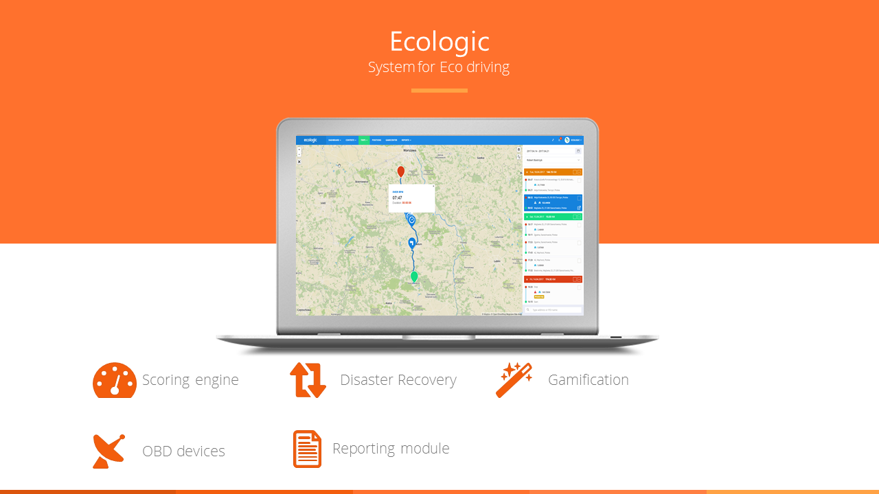 Ecologic- system for eco driving