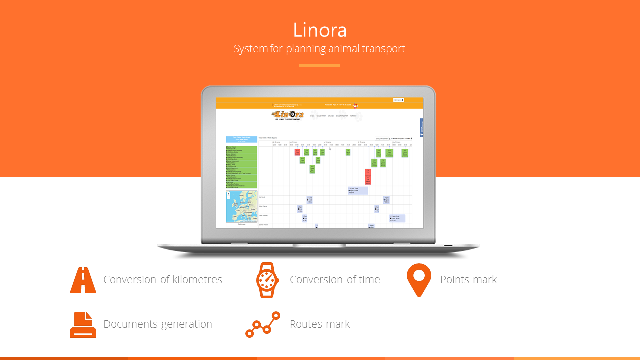 Linora- system for planning animal transport