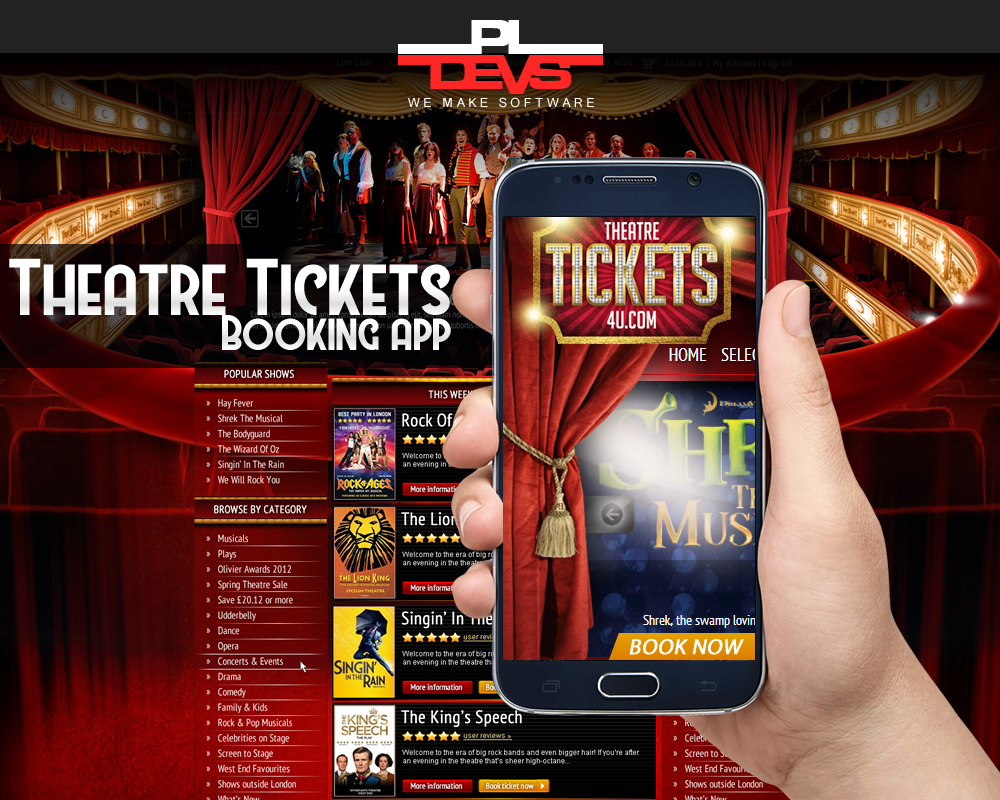 Theatre Tickets Booking App
